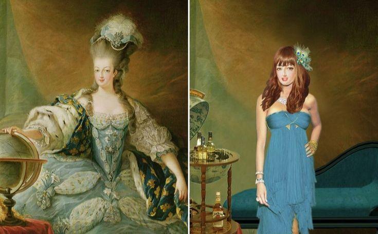 In de nieuwe portretten worden verschillende beroemde personages uit de Britse geschiedenis gepresenteerd als moderne figuren.