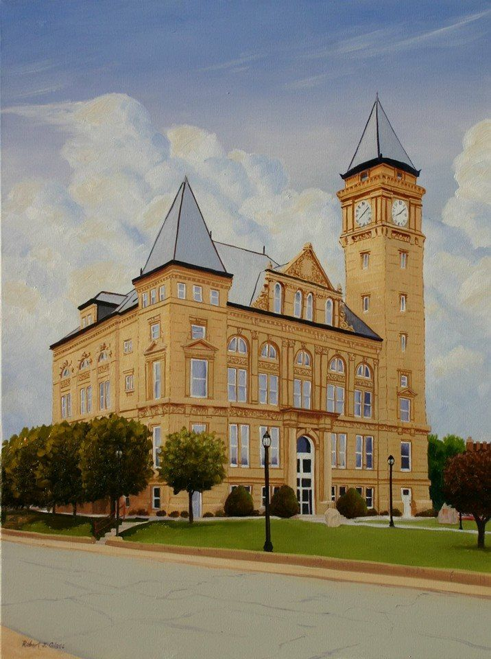 Robert Joseph Bob Glass Did This Painting For The Indiana State Bar Associations New Building A Few Years Ago Its Tipton County Courthouse Built