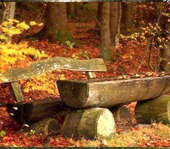 скамейки из бревна
