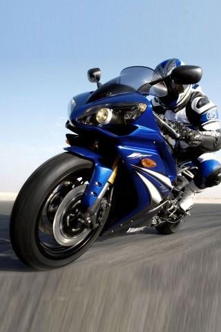 blue motorcycle Yamaha YZF-R1 (2007 - 2008)