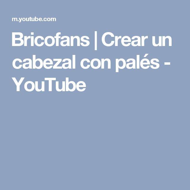 Bricofans | Crear un cabezal con palés - YouTube