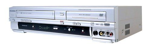 Sylvania DVR-90VG Progressive Scan DVD Recorder/VCR Combo Progressive scan DVD recorder/4-head VCR combo with 1-year/8-event programming timer. Supports DVD Video, DVD-R/RW, CD, CD-R/RW, VHS, and MP3-CD playback and DVD-R/RW recording. Built-in NTSC TV tuner