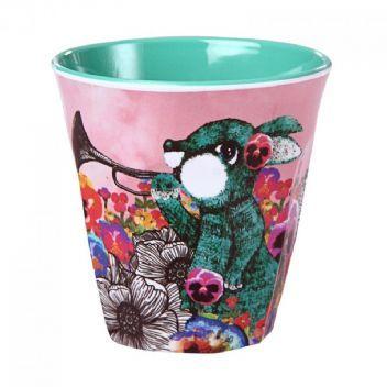Wonderland Hare Melamine Cup - Small
