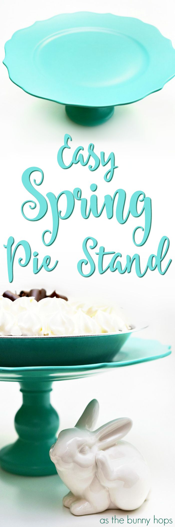 Make your own custom cake or pie stand for spring with just a few simple steps!