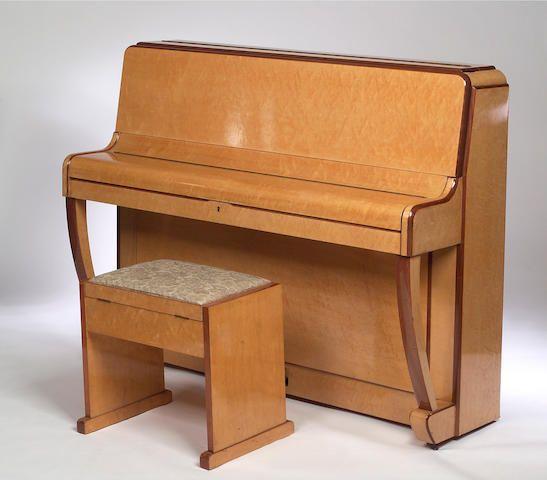 Ajello an art deco upright overstrung piano art deco for Piani art deco