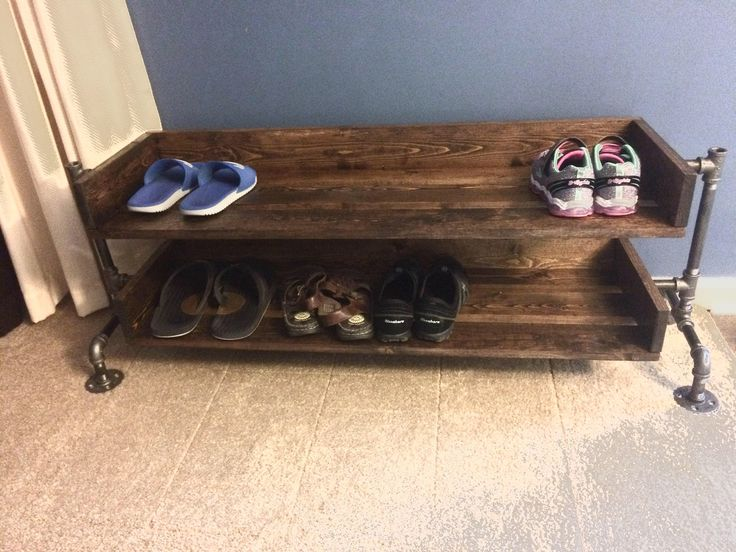 Excited to share the latest addition to my #etsy shop: Industrial Shoe Rack, Shoe Storage, Shoe Rack, Entryway Shoe Organizer, Shoe Stand (Size & Stain Options)