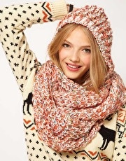 ASOS Mix Knit Hooded Snood