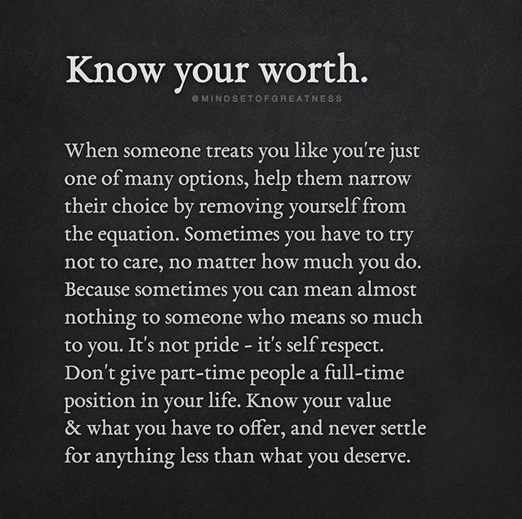 Know Your Worth #options, #removeyourself, #selfrespect ...