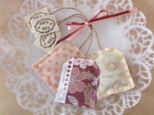 Tea:  Pretty teabags on a lace doily, to add a touch of romance to tea time.