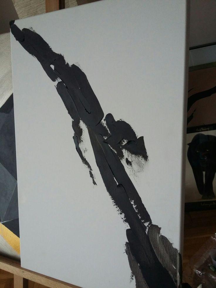 Lady in black dress Oil on canvas 30x40