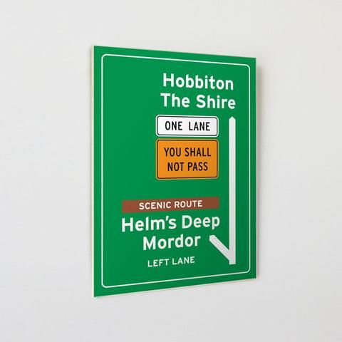 A5 sized wooden sign can be hung or placed on a shelf
