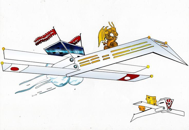 """Astronave civile """"Cigno Bianco"""", variante di lusso e mercantile"""
