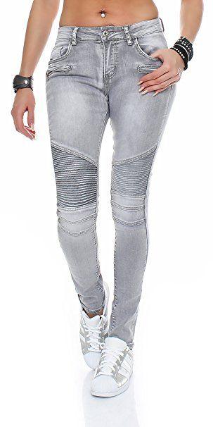 196a623251a461 SKUTARI Damen Jeanshosen Stretch Skinny Biker Jeans: - Jeanshose frauen  jeanshosen damen jeans outfit jeans