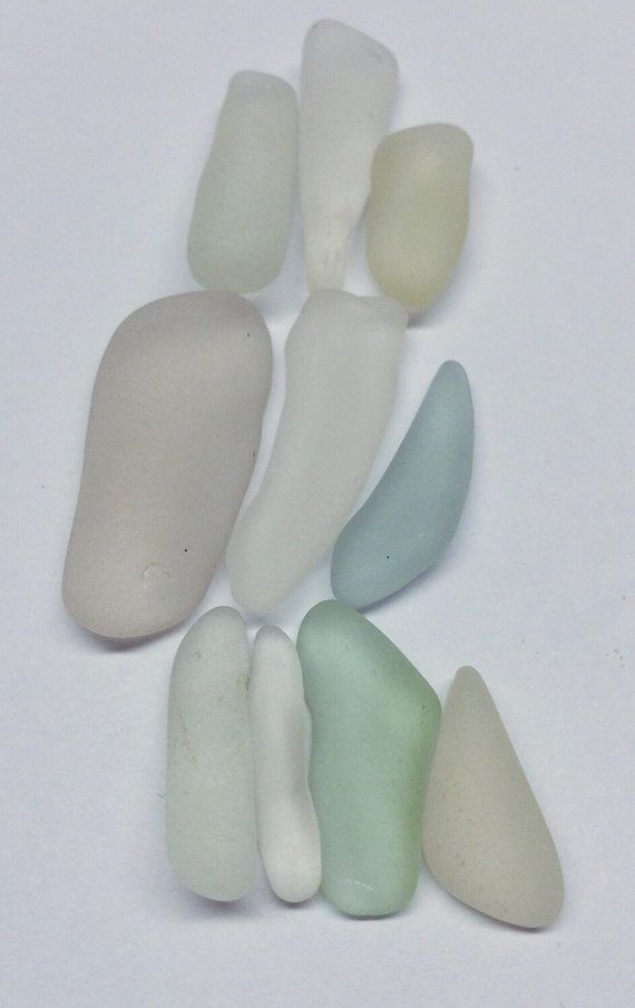 Genuine SEAGlass10 amazing frosty tubular pieces Texas beach found glass galveston supplies sea glass bulk sea glass supplies beach glass
