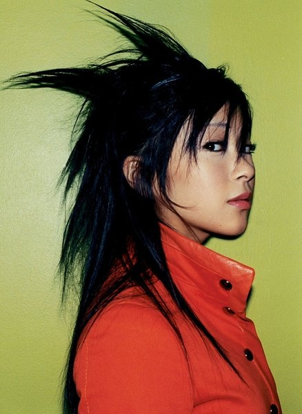 Utada Hikaru, is it me or she looks like Goku from dragon ball z lol
