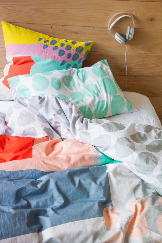colorful bed