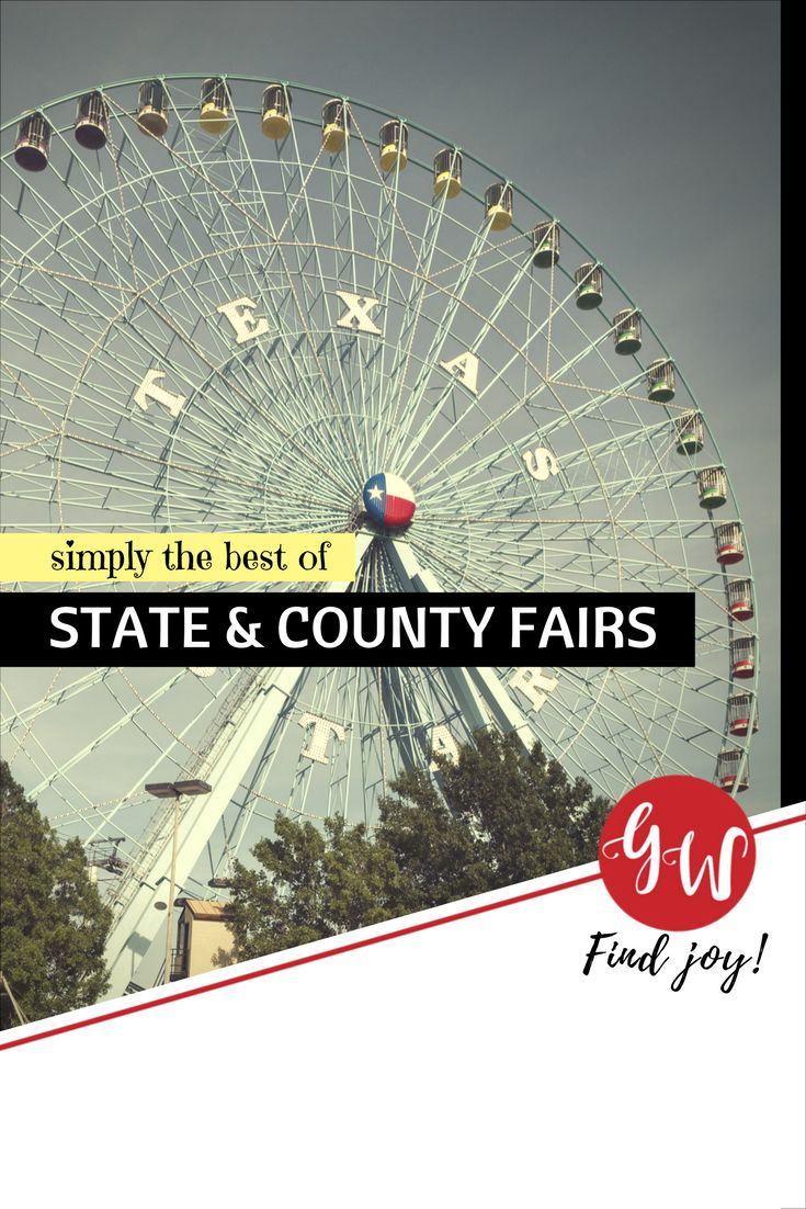 History board spotlighting world, state, county, and local fairs