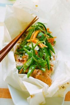 Rezept - Fisch auf asiatische Art mit Gemüse