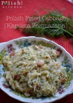 Polish Fried Cabbage Recipe {Kapusta Zasmażana} More Polish food recipes at www.polishyourkitchen.com