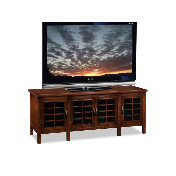 Leick Furniture Grid Cabinet 60-in. TV Stand, Brown