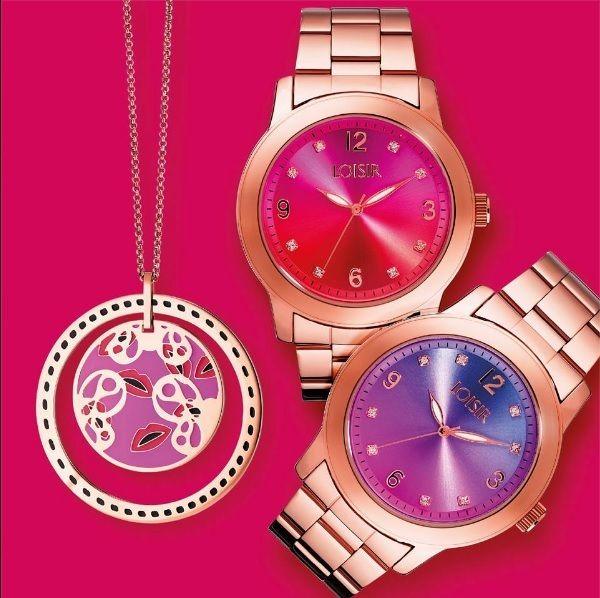 """De """"Multicolor"""" horloges hebben een wel heel bijzondere wijzerplaat. Deze bestaan namelijk uit twee kleuren! Perfect design en keuze uit oranje/paars, blauw/paars of groen/blauw. Ontdek LOISIR en bekijk nu onze website voor speciale aanbiedingen!"""