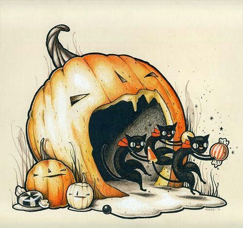 Samhain // Hallowe'en // Day of the Dead - Halloween vintage graphic                                                                                                                                                      More