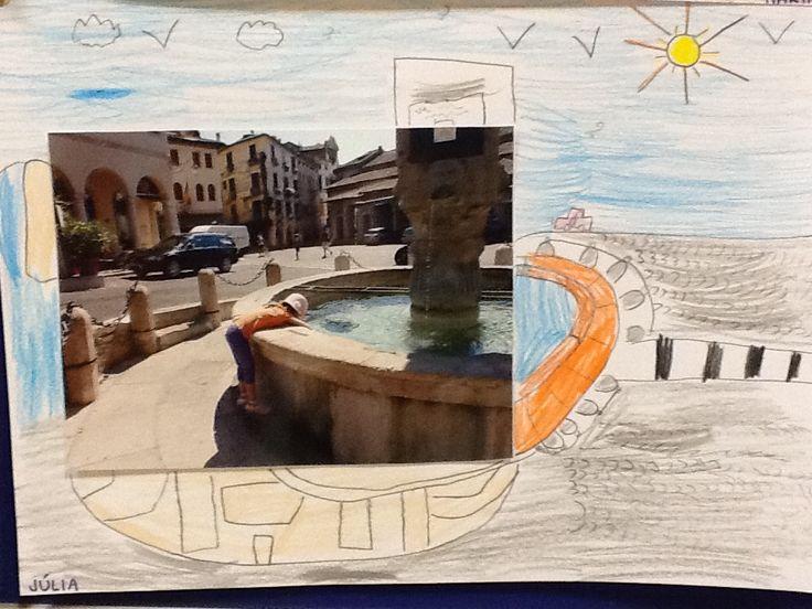 Què vaig fer aquest estiu? 1r de primària. Completen la foto amb un dibuix. Escola Pia de Granollers.
