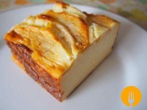La mejor Tarta de queso con manzana fácil y sencilla. Una tarta que te sorprenderá por su sencillez y sabor. Todo un manjar!