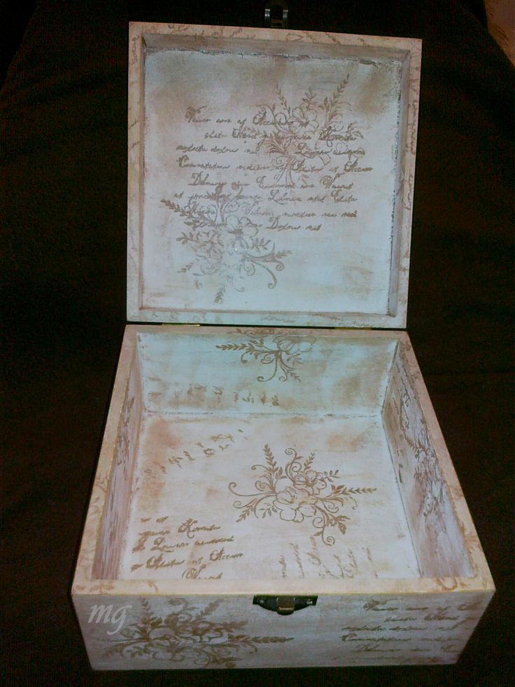 20 best cajas de madera decoradas images on pinterest - Cajas de madera decoradas ...