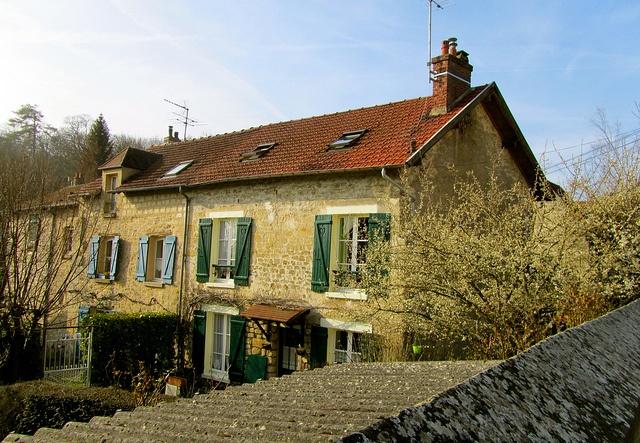 The Auvers sur Oise van Gogh knew.   France