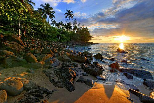 Ke'e Beach Kauai. Love to snorkel here around to the Napali Coast side...