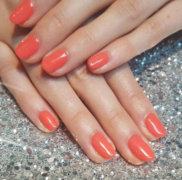 Artistic Colour Gloss It Takes Tulips To Tango Available At Louella Belle #ArtisticNailDesign #ArtisticColourGloss #OrangeNails #Orange #GelPolish #LouellaBelle