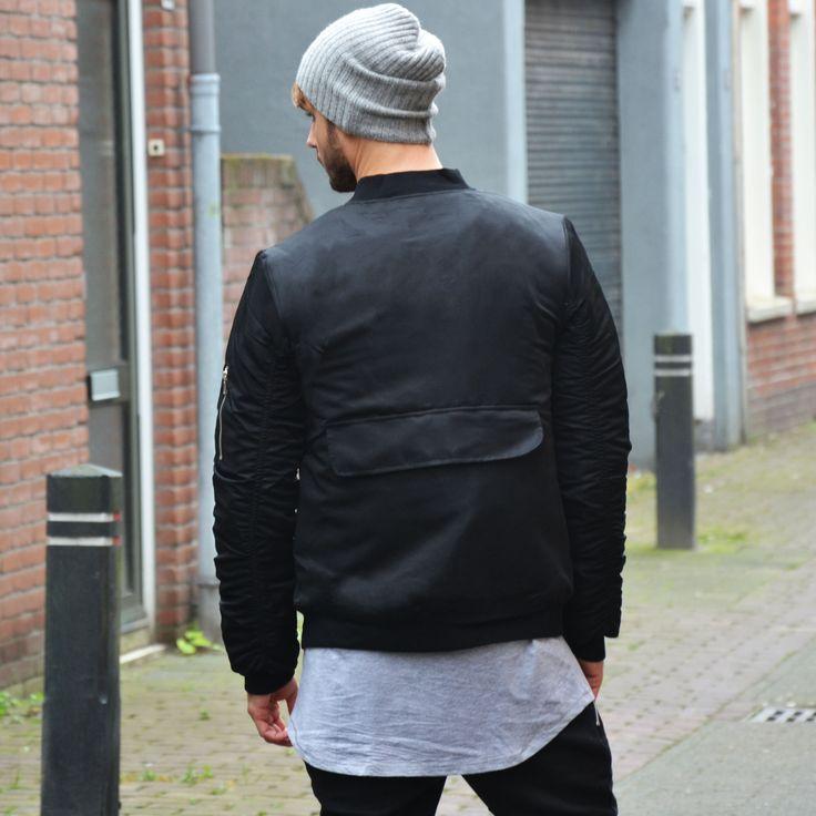 Bomber jacket black €44,99 http://mymenfashion.com/bomber-jacket-black.html