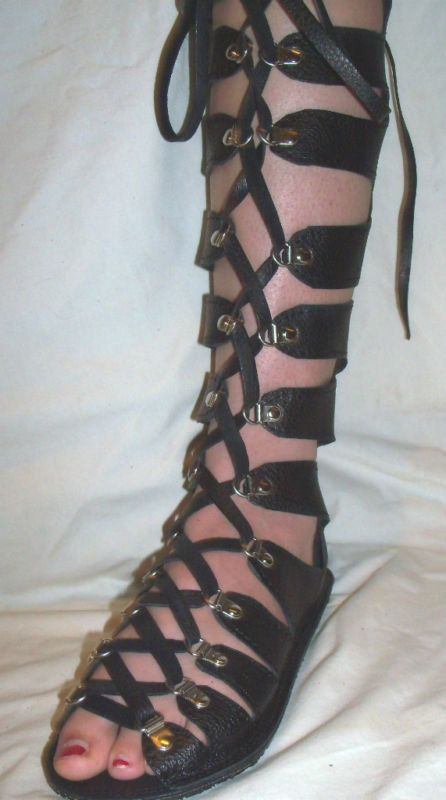 Leather Gladiator Sandals Medieval Renaissance Shoes by dleather, $299.95