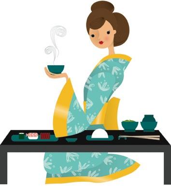 Jjapanese Tea illustration / Tè Giapponese, illustrazione - by Nila Aye