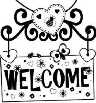 welcome sign coloring pages - photo#3