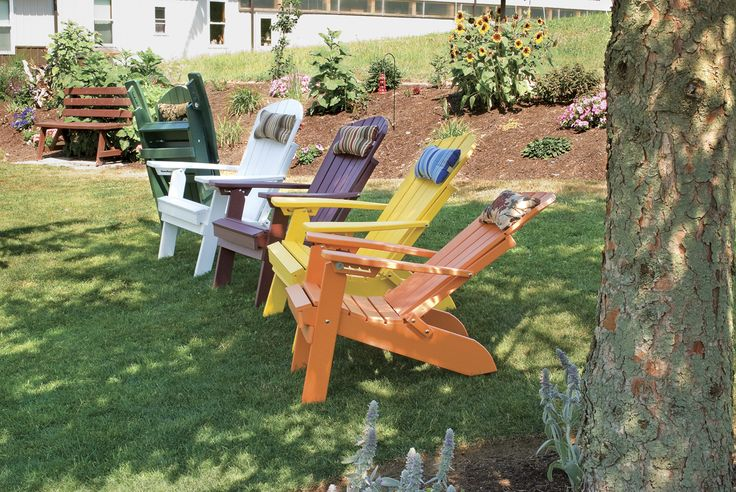 Relax and enjoy the outdoors with a reclining and folding polywood Adirondack chair.  Choose from 12 color options and pair with an Adirondack chair pillow or polywood ottoman for even more comfort.  Made in the USA and available at Furniture Barn USA.  http://furniturebarnusa.com/outdoor-polywood-adirondack-chairs-furniture/109-polywood-folding-reclining-adirondack-chair.html