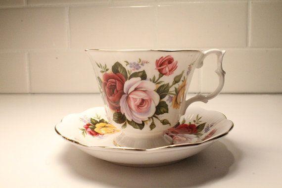 Royal Albert Tea Cup Tea Cup and Saucer Tea by ClockworkRummage, $17.00