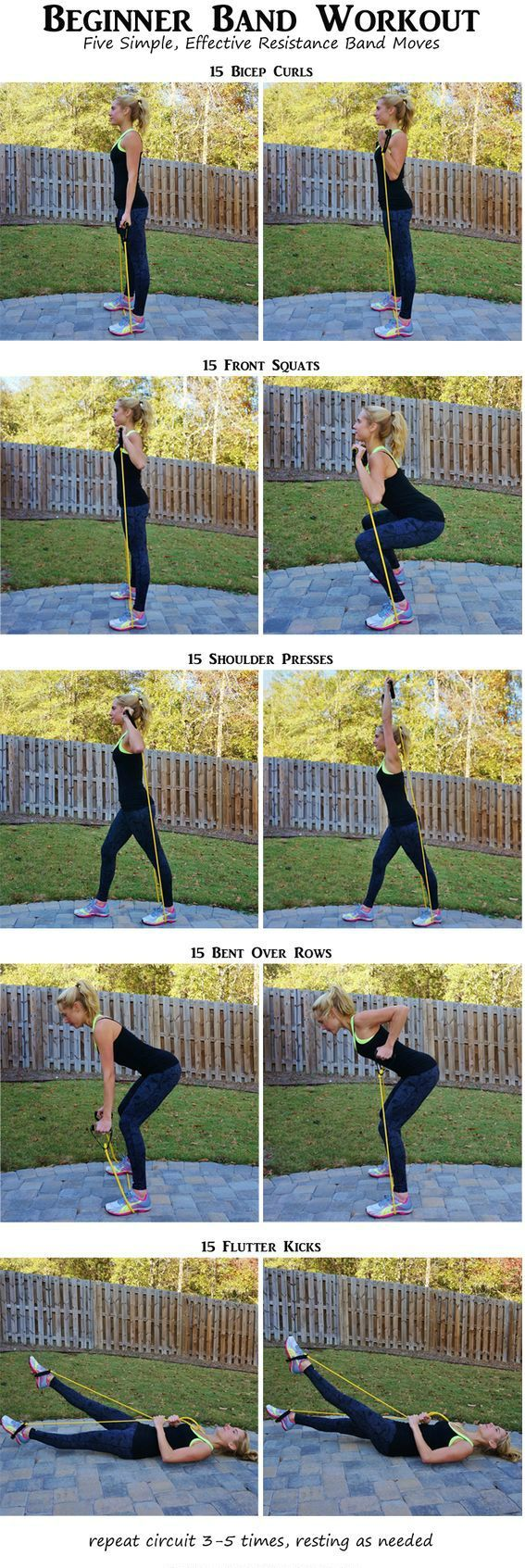 Band Exercises for women. You don't have to lift heavy dumbbells or a medicine…