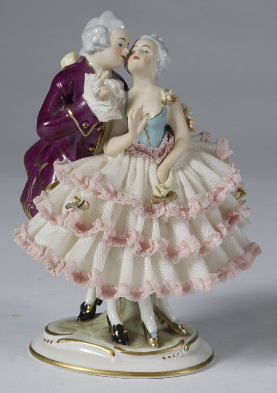 what does dresden figure | 562: Alka Dresden Porcelain Dancing Couple Figurine