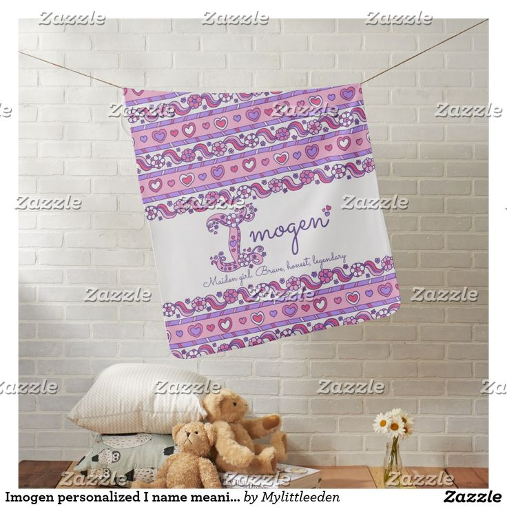 Imogen personalized I name meaning baby blanket #imogen #babyblankets #namemeanings #babygirlnames