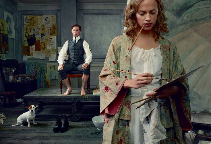 Life Study - Einar Wegener (Eddie Redmayne) poses for his wife, Gerda (Alicia Vikander) by Annie Leibovitz