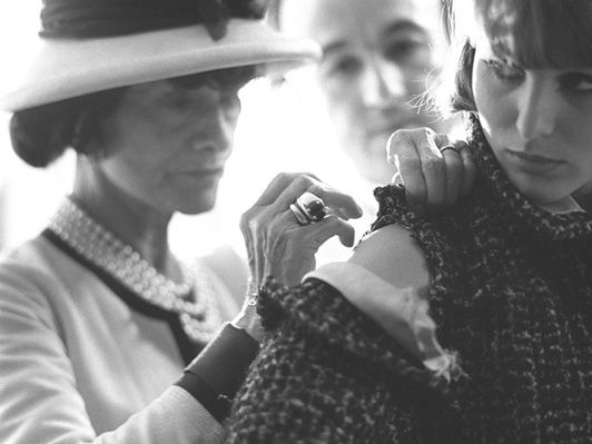 Coco Chanel at work