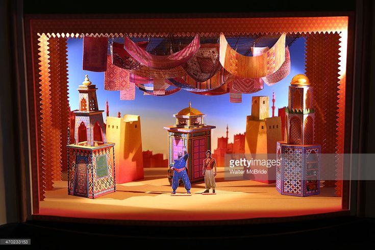 Stage and set design model at the 'Aladdin' Broadway Cast And Creative Team…