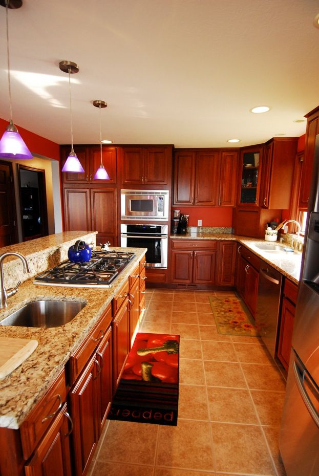 Schrock cabinets - Essence Cherry Briarwood | kitchen ...