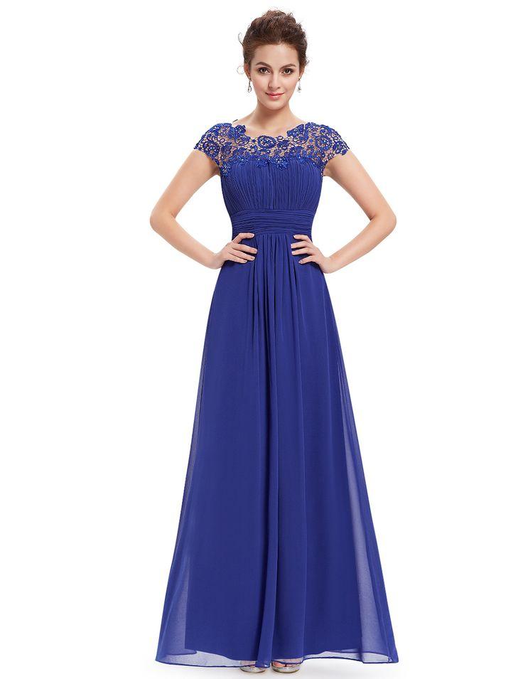 Plesové šaty   Ever Pretty plesové a společenské šaty modrá   šaty skladem