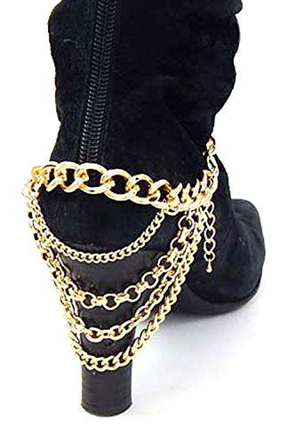 KARMAS CANVAS MULTI CHAIN BOOTS CHAIN ANKLET
