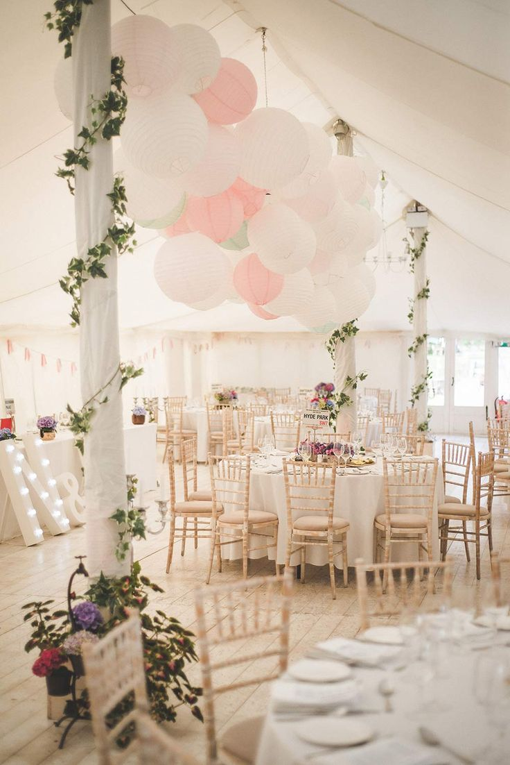 "Whimsical Marquee Reception "" Ivy Vines 