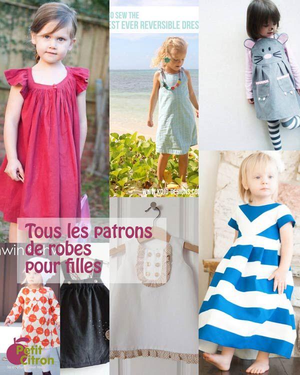 la liste de tous les patrons diy de robes pour fille blog diy and crafts and robes. Black Bedroom Furniture Sets. Home Design Ideas