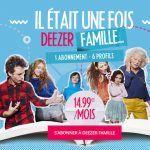 Deezer lance une offre Famille à 1499/mois valable pour 6 personnes